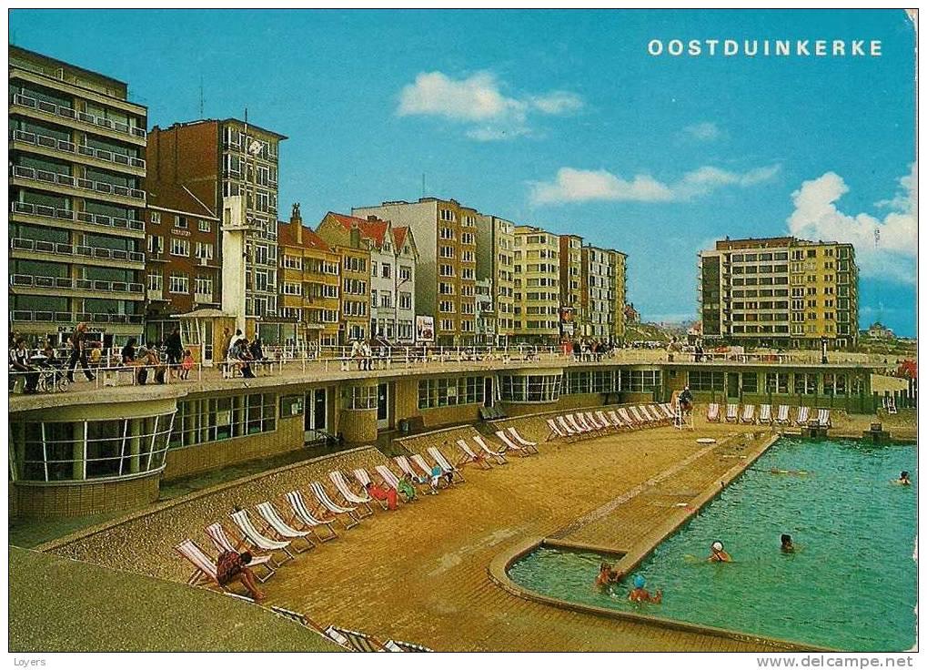 Oostduinkerke zeedijk met zwembad digue de mer avec for Piscine oostende