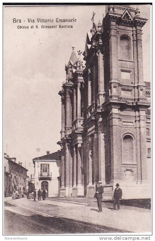 PIEMONTE - CUNEO -  Bra - Via Vittorio Emanuele E Chiesa - Cuneo