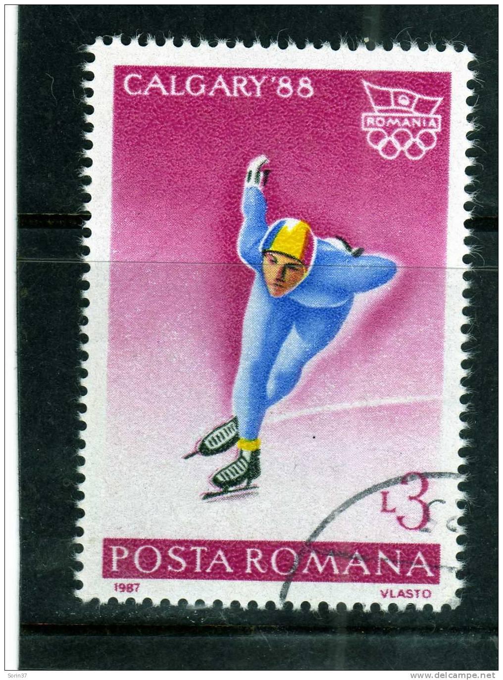 Sello De Romania Año 1987  Usado - Usado