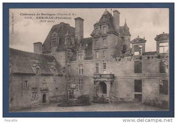 29 ST VOUGAY - CP CHATEAUX DE BRETAGNE - KERJEAN - FINISTERE - XVIe SIECLE - CLICHE A. LE MEUR - COLLECTION EH N° 1115 - Unclassified