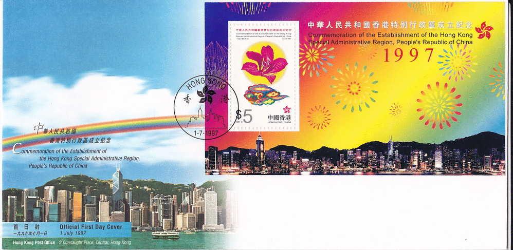 1997  Return To China Souvenir Sheet - 1997-... Région Administrative Chinoise