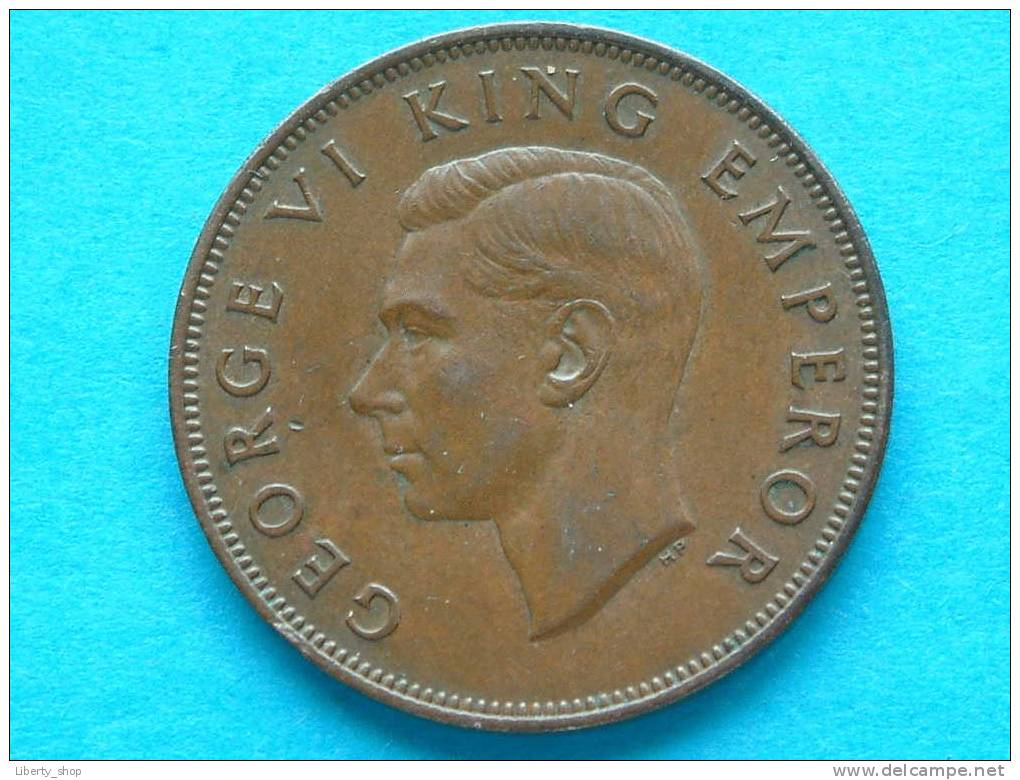 ONE PENNY 1947 / KM 13 ( For Grade, Please See Photo ) ! - New Zealand