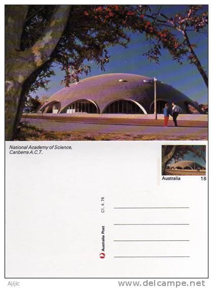 Australie. Academie National Des Sciences A Canberra.  Un Entier Postal Neuf - Canberra (ACT)