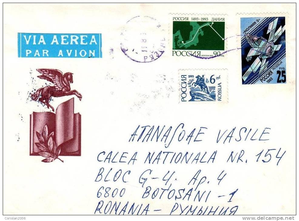 Russia / Letter / Space, Danmark - Storia Postale