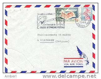 Frankrijk France Brief Lettre  Avec Flamme Caisse D'epargne Postale - Marcophilie (Lettres)