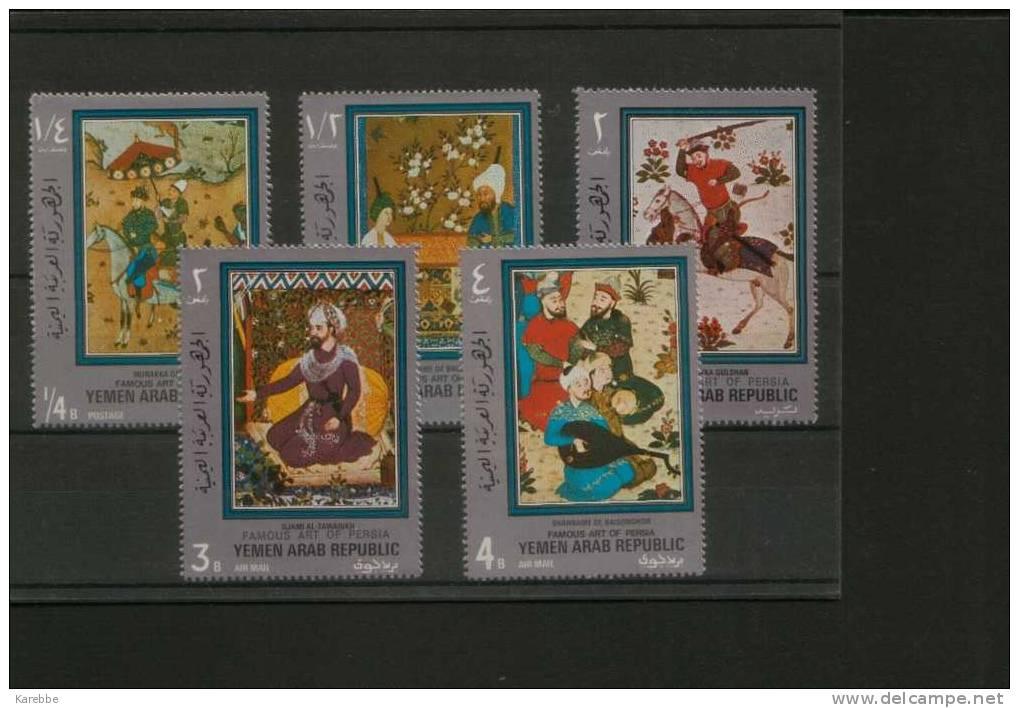 Yemen Jemen  Mehrere Steckkarten Postfrische Marken Gemälde Weltraum  Beethoven Malerei Ansehen - Yemen