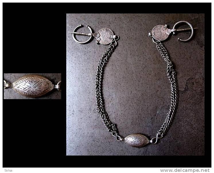 Rare Et Fine Parure XIXème De L'Anti-Atlas Fibules Anciennes / Old Anti Atlas Morroco Silver Fibulae Ornament - Art Africain