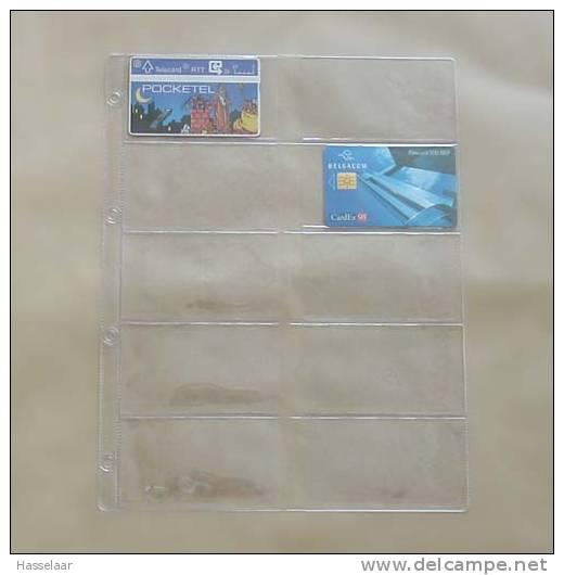 50 Inlegbladen Voor Telecards - Matériel