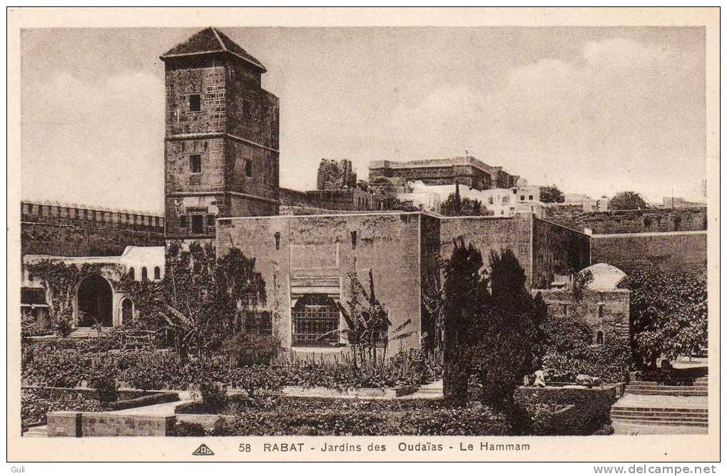 Maroc -RABAT - Jardins Des Oudaïas , Le Hammam - *PRIX FIXE - Rabat