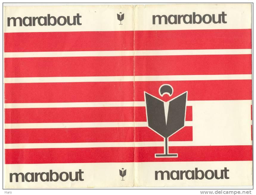 Jaquette Rouge Pour Livre - MARABOUT (gr) - Advertising