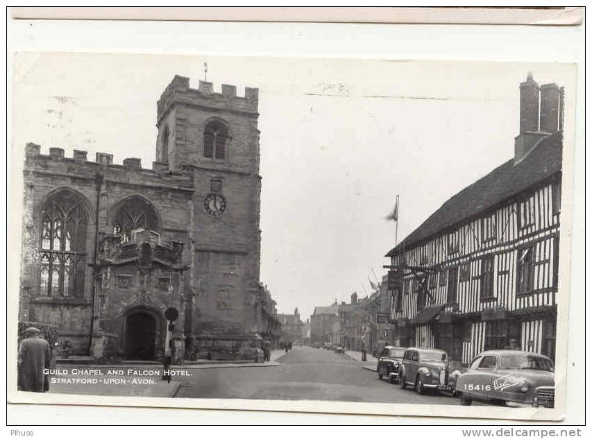 UK557:  STRATON-UPON-AVON : Guild Chapel And Falcon Hotel - Stratford Upon Avon