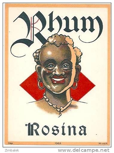 ETIQUETTE -  RHUM ROSINA - N° 84 - Rhum