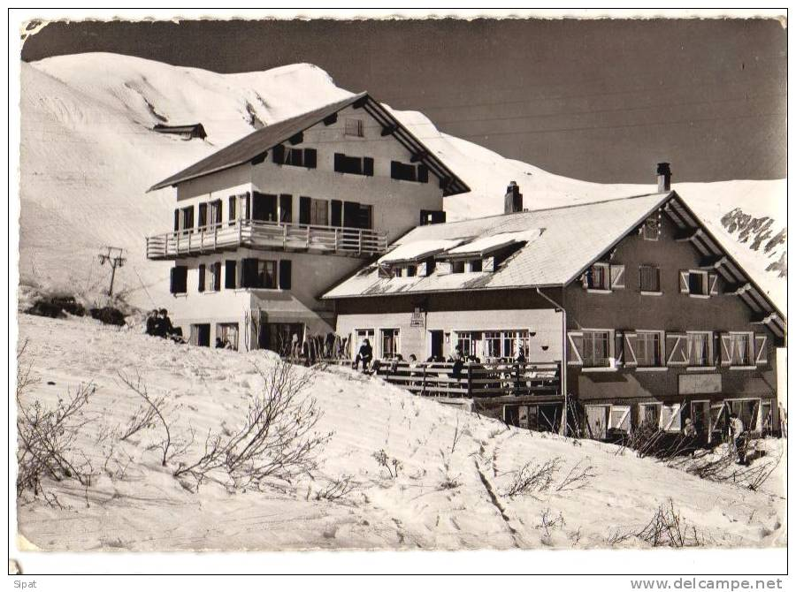 """CPSM 73 / FONTCOUVERTE TOUSSUIRE / HOTEL AUGERT ANDRE """"LES ARCOSSES"""" / TERRASSE ANIMEE / VINCENT 18 / 1962 - Autres Communes"""