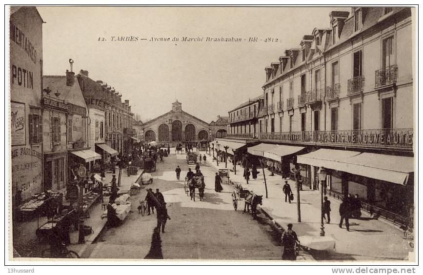 Carte Postale Ancienne Tarbes - Avenue Du Marché Brauhauban - Tarbes