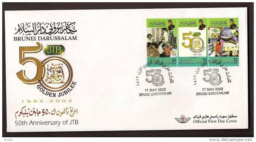 Brunei Darussalam 2002, 50th Ann. Of JTB, FDC 17-05-2002 - Brunei (1984-...)
