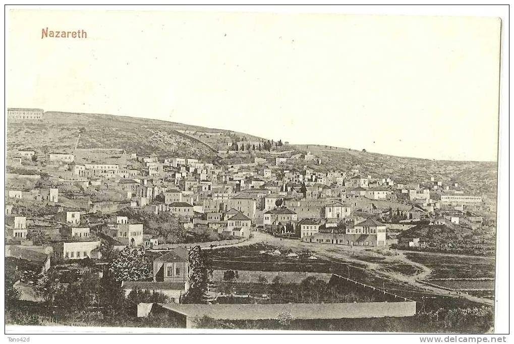 REF LPU8 - PALESTINE - CPA VOYAGEE NAZARETH / PARIS  AVRIL 1910 - Palestine
