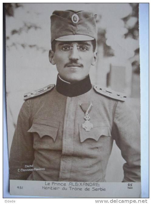 Le Prince Alexandre Heritier Du Trone De Serbie Guerre 1914 WWI - Serbie