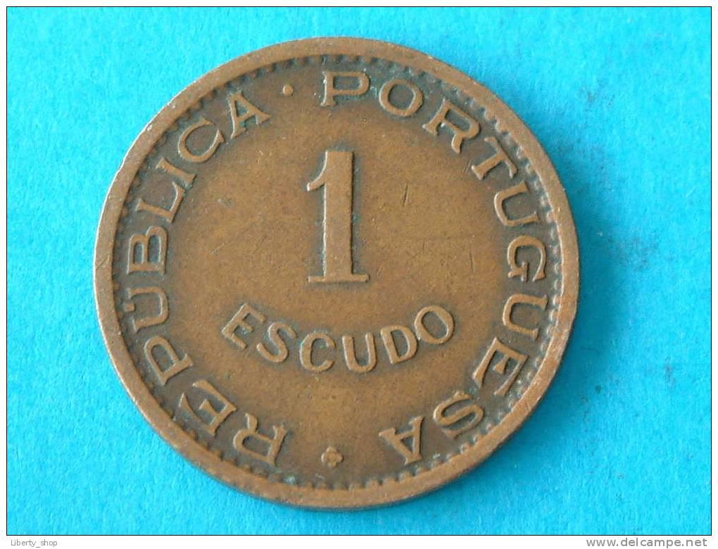 1965 - 1 ESCUDO / KM 82 ( For Grade, Please See Photo ) !! - Mozambique