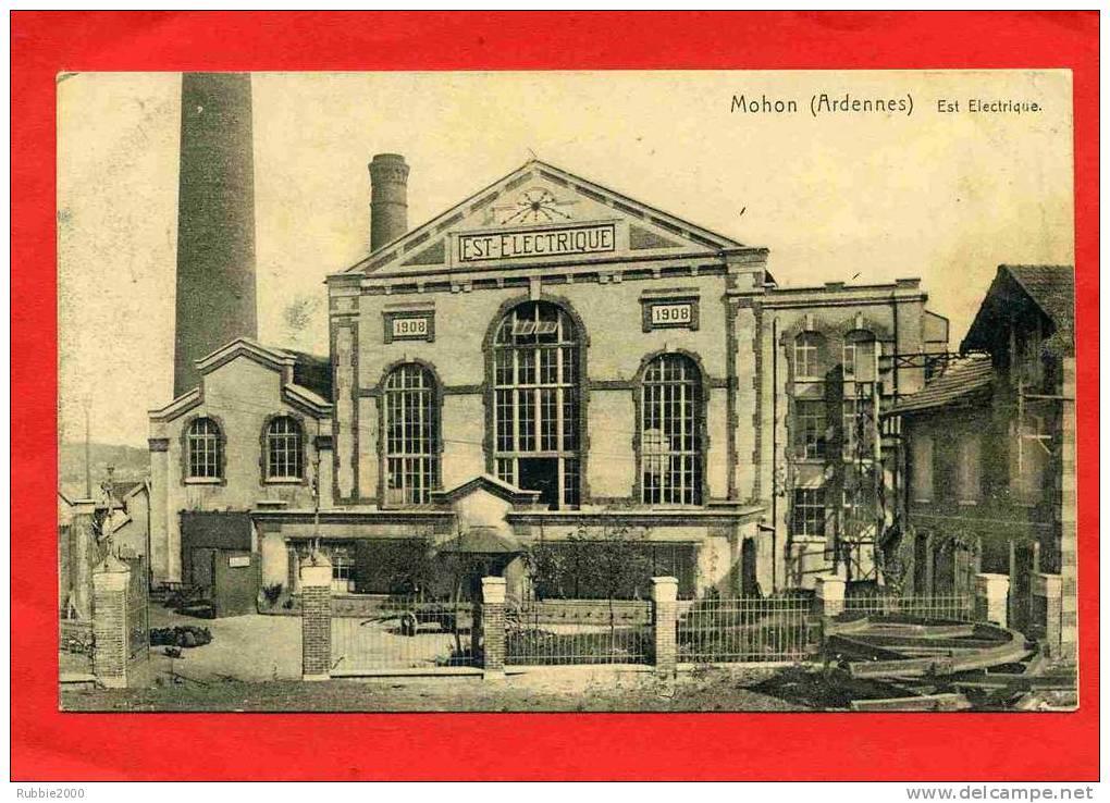 MOHON 1918 COMMUNE DE CHARLEVILLE MEZIERES USINE EST ELECTRIQUE CARTE EN BON ETAT - Charleville
