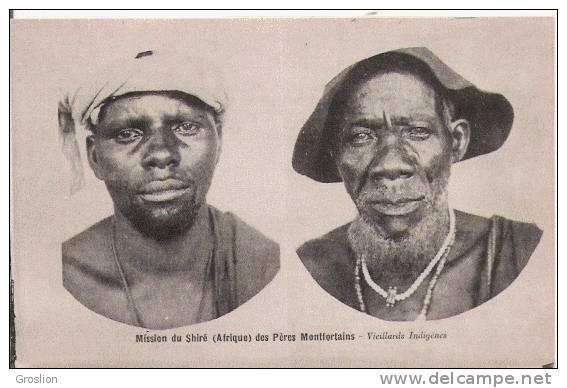 MISSION DU SHIRE (AFRIQUE) VIEILLARDS INDIGENES (HOMMES POSANT BEAU PLAN) - Malawi