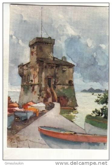 Ligurie - Rapallo - Château - Malerei & Gemälde