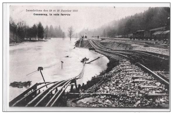 Cossonay (VD) La Voie Ferrée, Inondations, Lichtdruck, 1910    ***21228 - VD Vaud