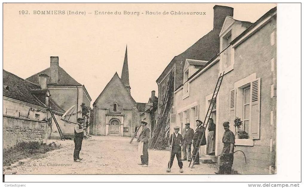 BOMMIERS   ( 36 )  -  Entrée Du Bourg , Route De Chateauroux - France