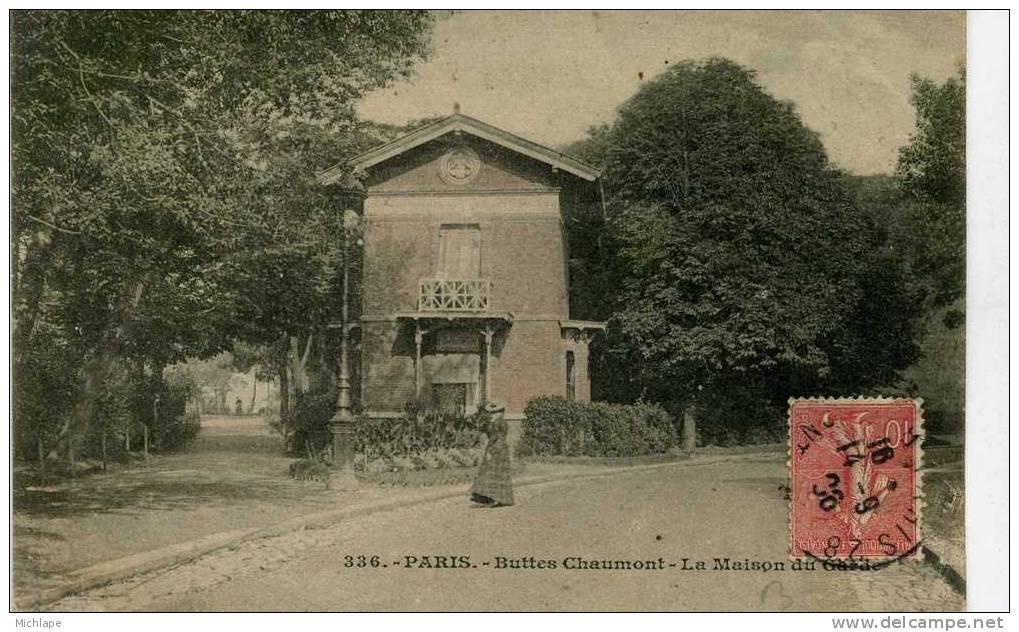 CPA 75 PARIS  19em  BUTTES CHAUMONT  LA MAISON DU GARDE   PARFAIT ETAT - Arrondissement: 19