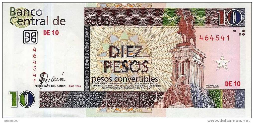 10 PESOS CONVERTIBLES Aus Kuba -10 CUC- (diez Pesos De Cuba) - Bankfrisch Unc-  2006 - Siehe Bilder - Cuba