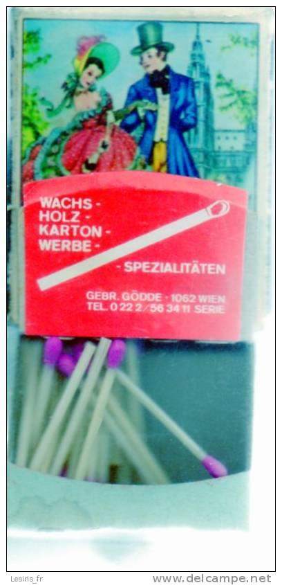 POCHETTE D´ALLUMETTES - PFINGSTROSE U. GOLDFWURZ - ALT - WIEN - WACHS - HOLZ - KARTON - WERBE - SPEZIALITATEN - - Boites D'allumettes