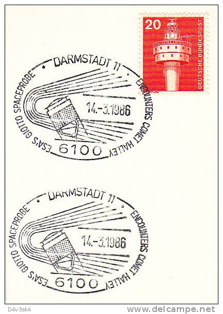 1986 Deutschland Darmstadt Halley´s Comet Giotto Spaceprobe Cometa Comète Space Astronomy Star Halleys - Astronomy
