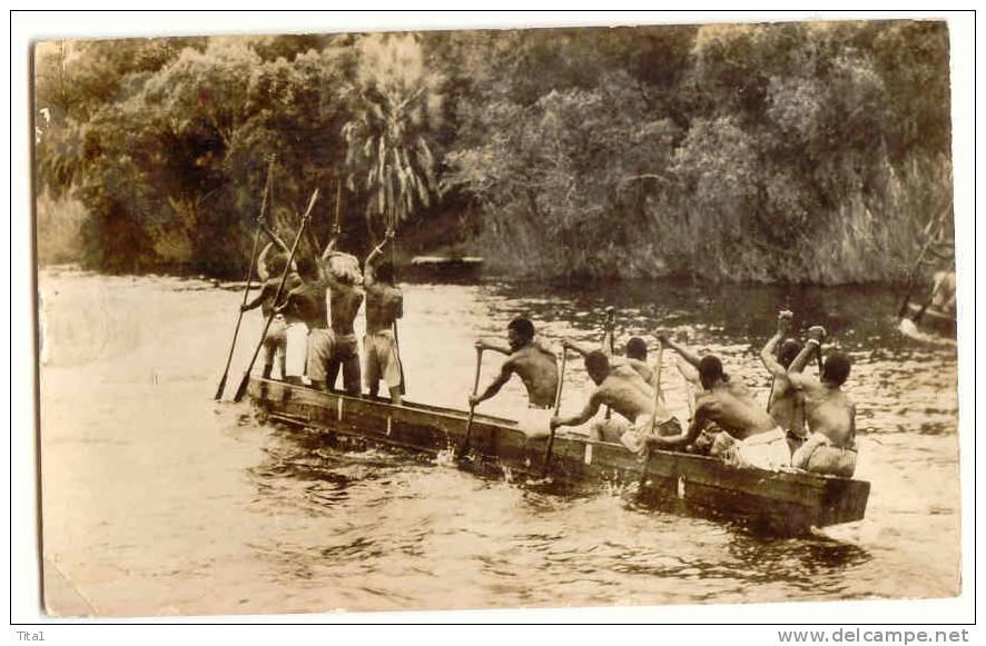 13507 - A Native Canoe On The Zambezi River Above The Victoria Falls - Zimbabwe