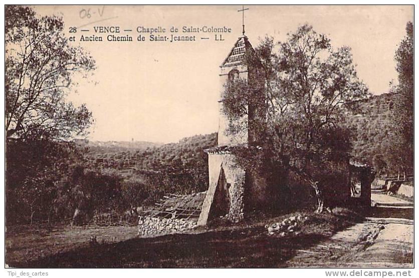 06 - Vence - Chapelle De Saint-Colombe Et Ancien Chemin Saint-Jean - Vence