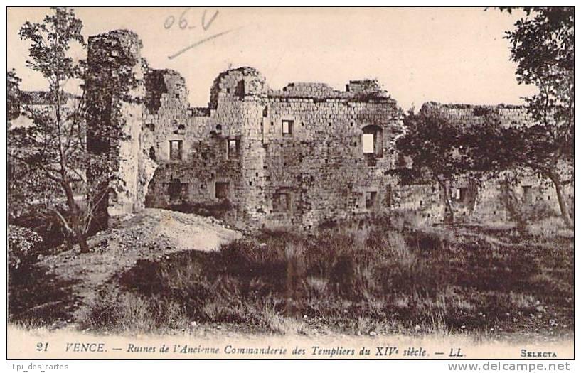 06 - Vence - Ruines De L'Ancienne Commanderie Des Templiers Du XIVe Siècle - Vence