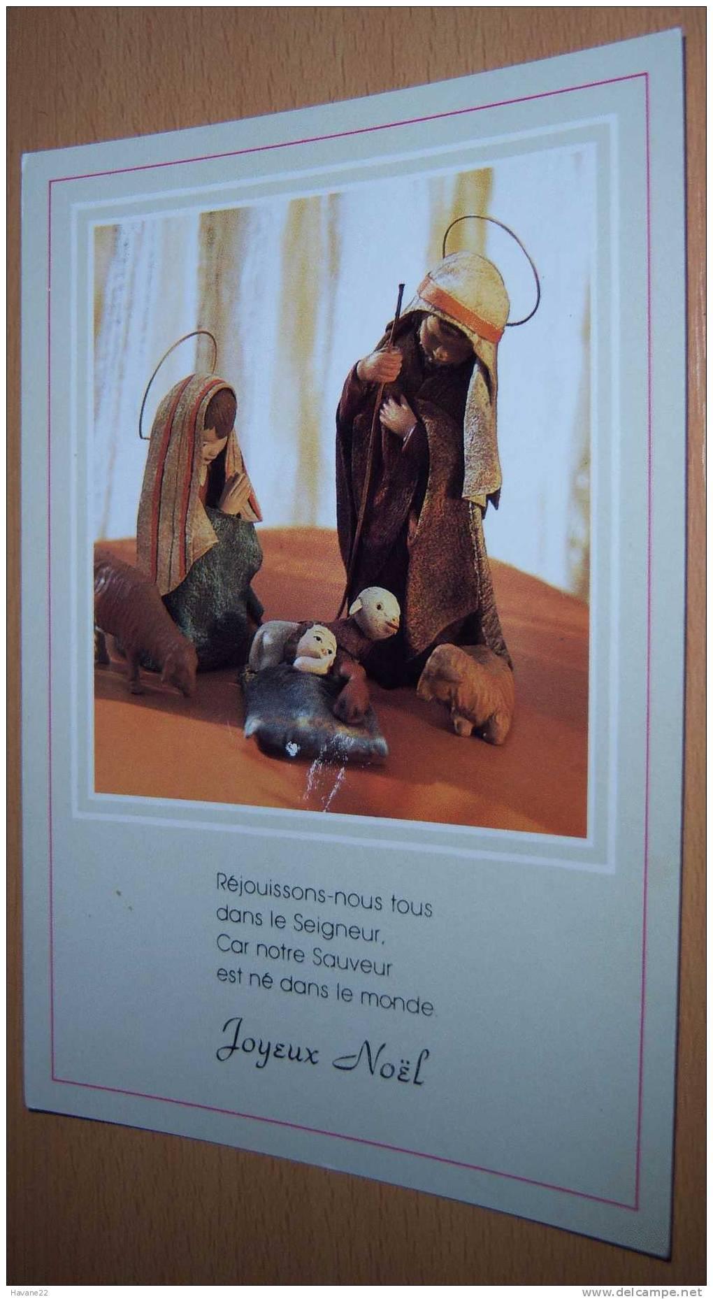 I950 Joyeux Noel  Vierge Jesus Animaux 1990 - Noël