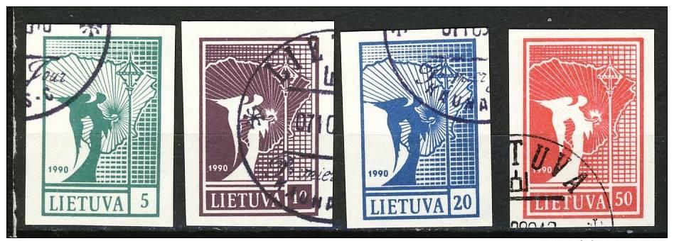 Lutuanie - Litauwen   Cat.  Y&T Bloc Nr 390-393  Obliteré - Gestempeld  (o) - Lithuania