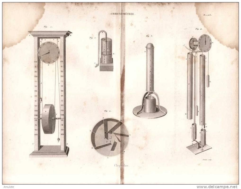 CLEPSYDRE GRAVURE ENGRAVING - Bijoux & Horlogerie