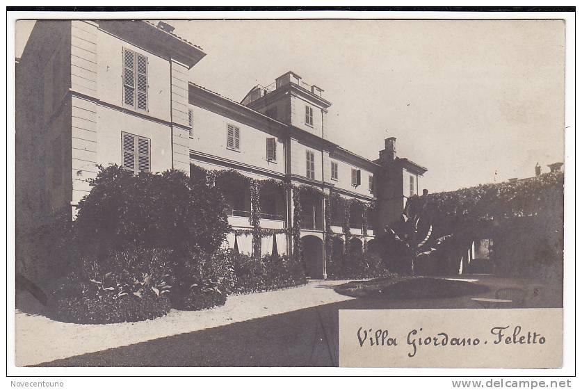 PIEMONTE - TORINO - Feletto Canavese - Villa Giordano - Fotografica - Sin Clasificación