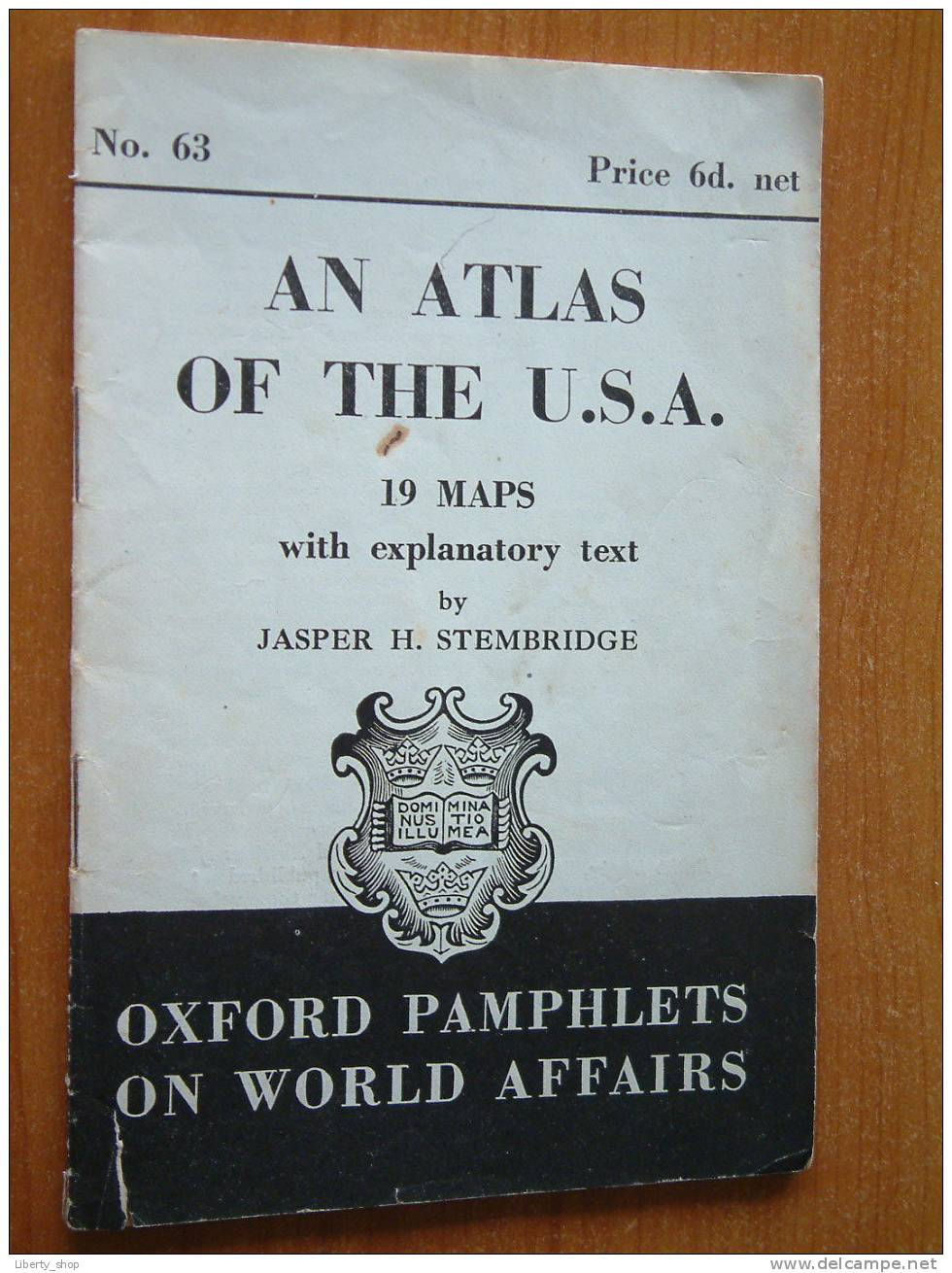 AN ATLAS OF THE U.S.A. N° 63 ( 19 Maps With Explanatory Text By Jasper H. Stembridge ) / 1944 ?! - World