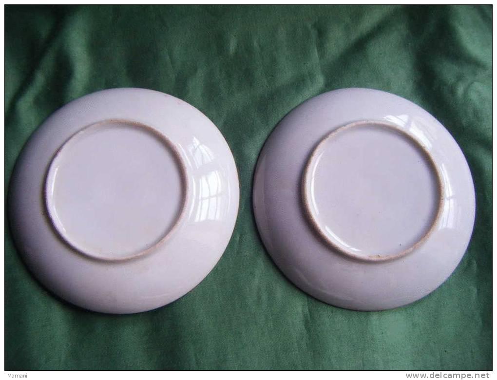 2 Soucoupes Seules- Decor Asiatique-diametre Soucoupe . 11cm- Sans Signature - Art Asiatique