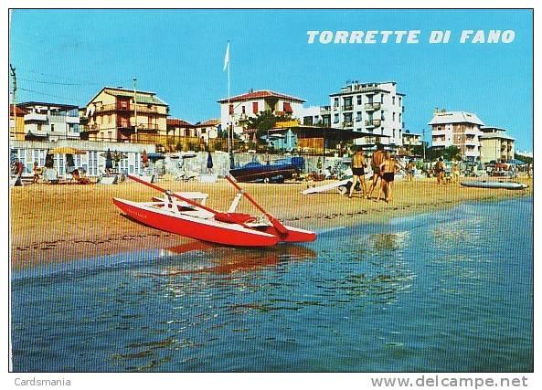 02691-Torrette Di Fano(Pesaro-Urbino)-Alberghi E Spiaggia - Fano