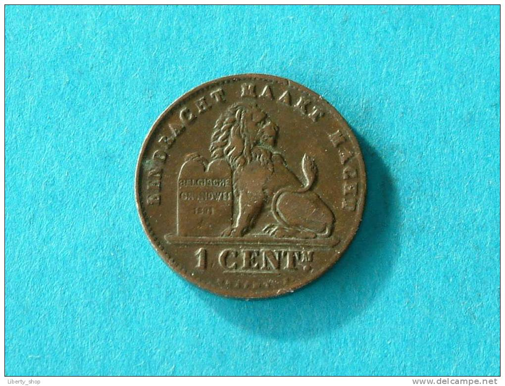 1899 VL - 1 Cent ( Morin 229 - For Grade, Please See Photo ) !! - 1865-1909: Leopold II