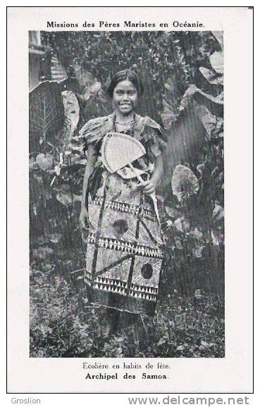 ARCHIPEL DES SAMOA ECOLIERE EN HABITS DE FETE (FILLETTE BEAU PLAN) - Samoa