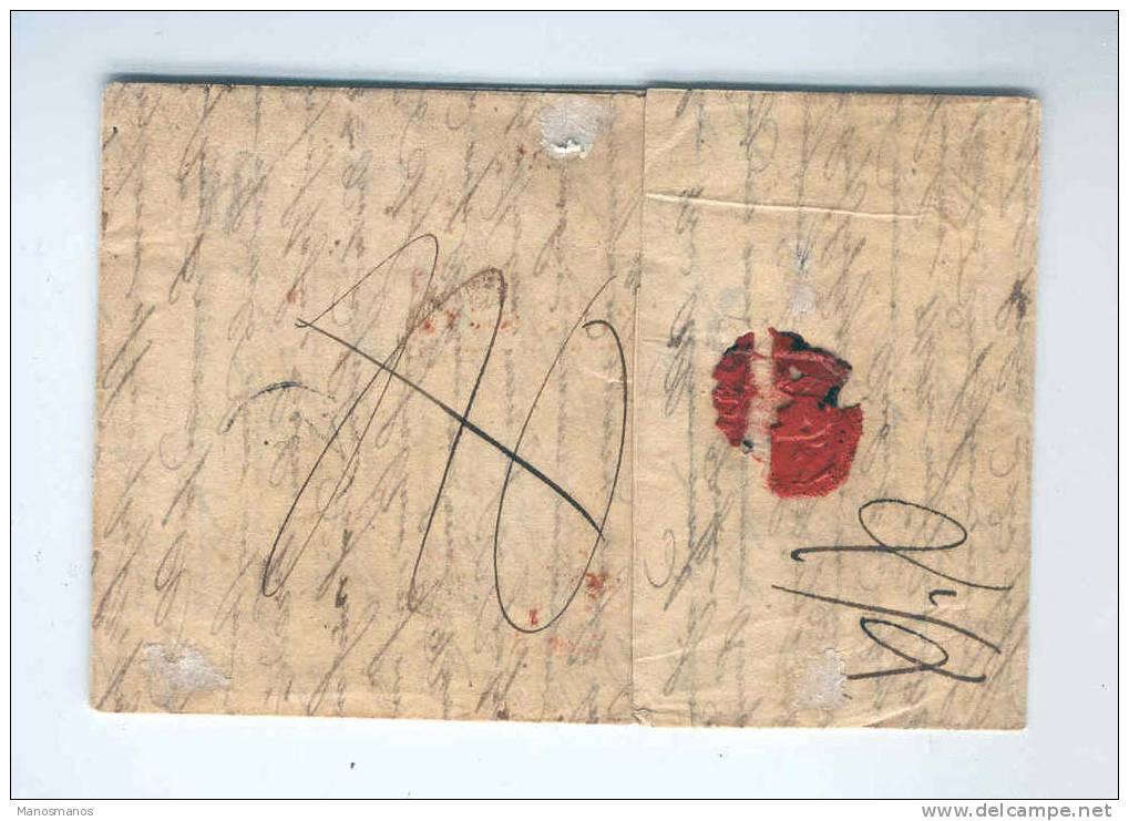 141DT -  Précurseur ANVERS PP 1833 Vers COLN Allemagne - Griffe Rouge Encadrée FRANCOTOUT - Delbeke Ind. 10 - 1830-1849 (Belgique Indépendante)