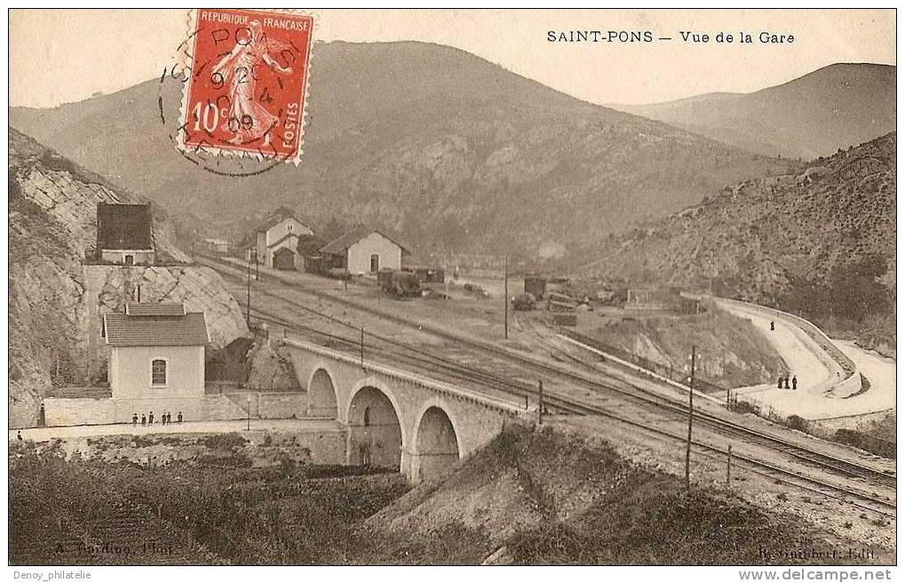 34 /  SAINT PONS / VUE DE LA GARE - Francia