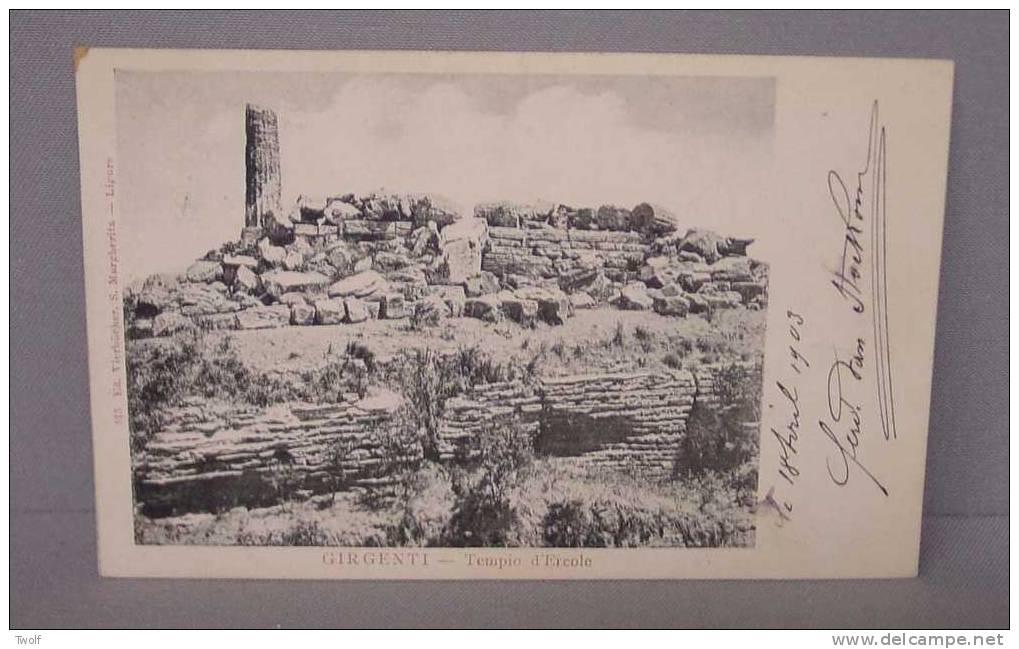 Girgenti - Tempio D´Ercole -  Ed. Vierbücher, S. Margherita - Ligure - Agrigento