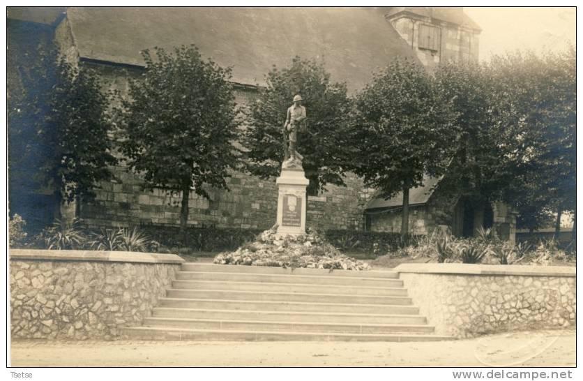 Leernes - Le Monument - Carte Photo -vue Horizontale - Fontaine-l'Evêque