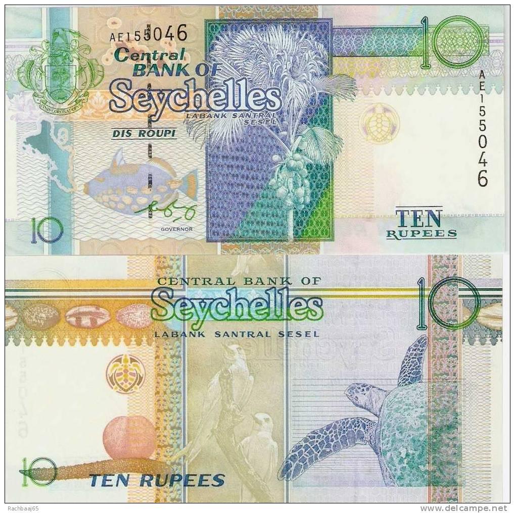 10 Seychelles Rupien (Seychellen) UNZIRCULIERT, Pick 36 ***** BILLET NEUF ***** - Seychelles