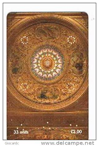 ISLE OF MAN - MANX TELECOM CHIP - THE GAIETY THEATRE: THE ORNATELY DECORATED CEILING  -  (USED) CODE IOM220 - RIF. 7764 - Isola Di Man