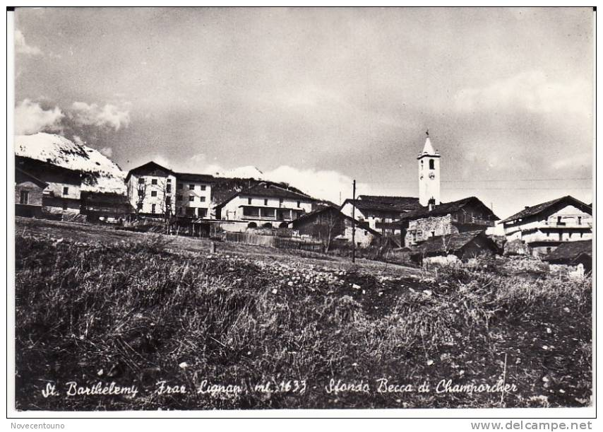 VALLE D´AOSTA -  S. Barthelemy - Frazione Lignan - Sfondo Becca Di Champorcher - Aosta